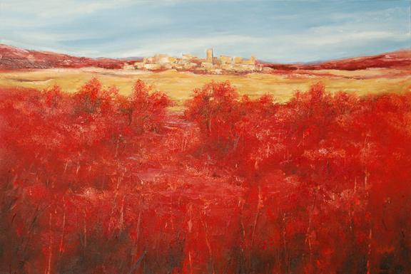 art field red - photo #9