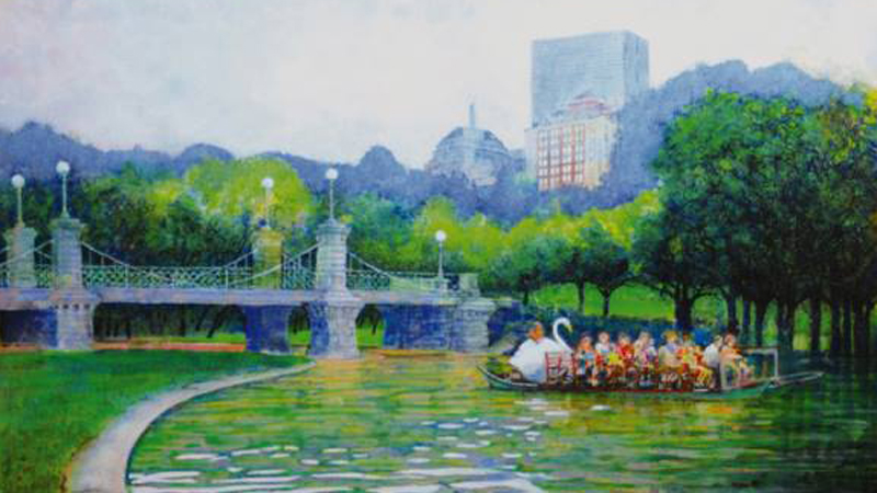 Swan Boats Boston Common by Stephen Mancini crop 800x450