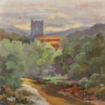 Lagrasse Morning by Julie Houck