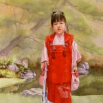 Little Japanese Girl in Red by Carolyn Latanision
