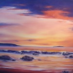 "Low Tide at Sunset donated by Lee Chabot ""Art for a Heart"""