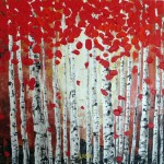 "Red Birch Forest donated by Blanche Serban ""Art for a Heart"""