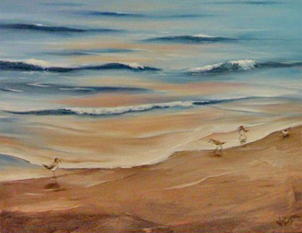 Beach-with-Sandpipers-Oil-on-Canvas-2013-feature