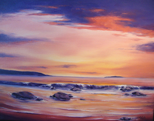 Low-Tide-at-Sunset-Oil-on-Canvas-22x28-Lee-Chabot-2013-feature