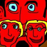 """""""Big H Two Small Heads"""" Limited Edition Lithograph by Ringo Star"""