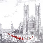 """""""Westminster Cathredral, London, With A Procession Of The Knights Of The Order Of Bath"""""""