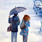 """Rainy Day in the Park donated by Carolyn Latanision """"Art for a Heart"""""""