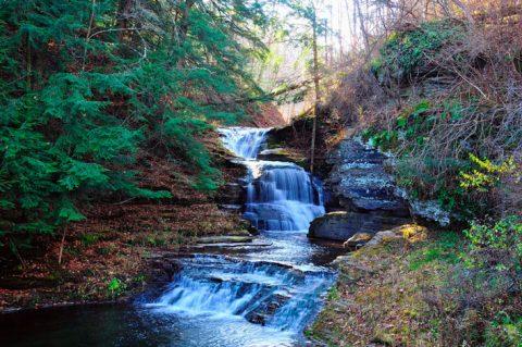 """""""Falls at Treman Park"""" color-photograph Douglas Racine"""